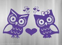 Owl Love Birds Vinyl Sticker Hearts Decal Car Truck SUV Bumper Window Wall Home | eBay