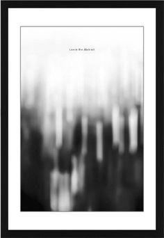 Black and White Bokeh Framed Print, Black, Contemporary, Black, White, Single piece, 20 x 30 inches
