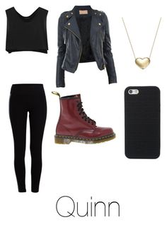 """Quinn"" by xxmia-hood-xx ❤ liked on Polyvore featuring Pieces, Kiki de Montparnasse, Dr. Martens and Signature Gold"