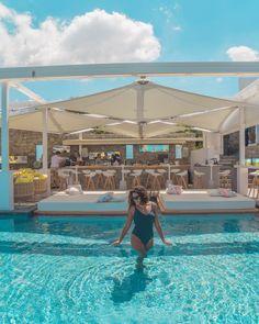 Mykonos Hotels, Mykonos Town, Restaurant Offers, Restaurant Ideas, Greek Antiquity, Swimming Pool Decks, Superior Room, Marble Bath, Guest Services