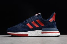 cfd7ae6f4 New adidas ZX500 RM Boost Navy Blue Red-White BB7446