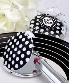 Chic Polka Dot Compact Mirror