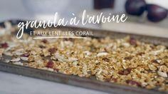 Granola à l'avoine et aux lentilles corail Colon Health, Colon Detox, Quebec, Proteine Vegan, Brunch, Original Recipe, Breakfast Recipes, Cereal, Recipies