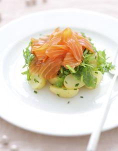 Gravlax, pommes de terre et riquette d'Alain Ducasse - ELLE