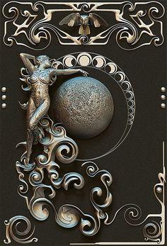 Art Deco - Raindrops and Roses Mucha Art Nouveau, Azulejos Art Nouveau, Bijoux Art Nouveau, Art Nouveau Jewelry, Design Art Nouveau, Art Design, Art Deco Tattoo, Art Amour, Architecture Art Nouveau
