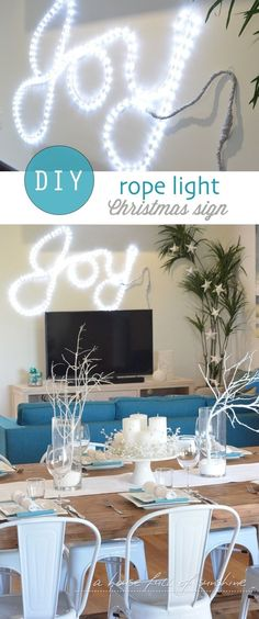 Turn a rope light into a gorgeous Christmas sign in just a few minutes!