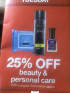 Target: 25% off Beauty and Personal Care Items, Today Only