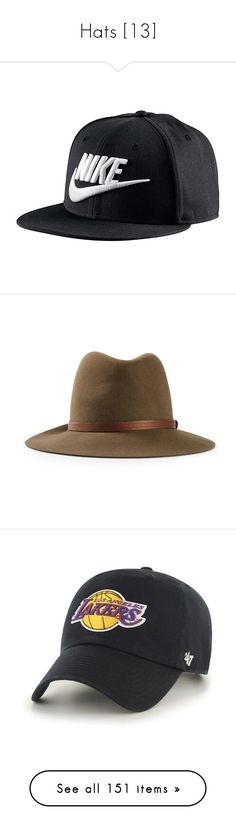 """""""Hats [13]"""" by gdavilla ❤ liked on Polyvore featuring accessories, hats, sports hats, nike snapback, sports snapback hats, cap snapback, nike cap, wool fedora, rag bone fedora and fedora hats"""
