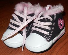 Baby Girl Prewalk Crib Shoes fall sneakers faux fur size 9-12 months  #Meijer #CribShoes