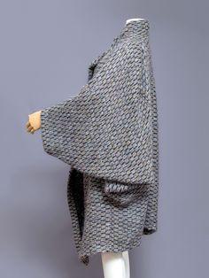 Issey Miyake knit kimono coat, 1980s. Side view.