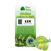 Ekologiczne nasiona na kiełki - Len 30g White Out Tape, Dom