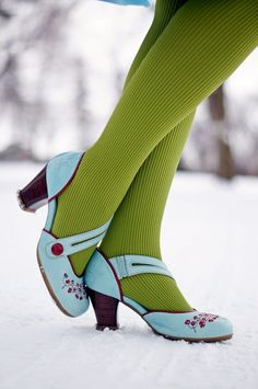 Fluevog LE Viardot operetta shoes: I have never seen these before. Love this LE colorway!