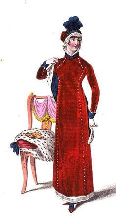 Regency walking dress  from La Belle Assemblée (Jan 1811)