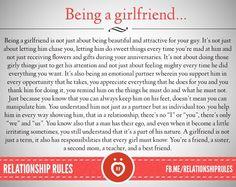 Being a girlfriend . . .