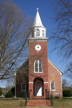 Christ Episcopal Church, Chaptico, MD, 1736. The edifice was damaged during the War of 1812 when British troops vandalized Chaptico Village, dug up the graves in the churchyard, and stabled their horses inside the church.