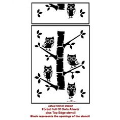 92-forest-full-of-owls-allover-nursery-wall-stencil