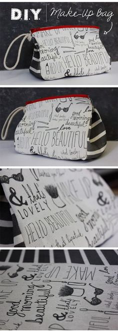 DIY Make-Up Bag! And even better that you get instructions of how to print on canvas. Endless possibilities!