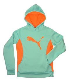 Look at this PUMA Aqua Big Cat Hoodie - Girls on #zulily today!