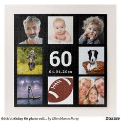Shop birthday 40 photo collage guy man black jigsaw puzzle created by EllenMariesParty. Boy 16th Birthday, 90th Birthday Parties, Birthday Gifts For Boys, Birthday Ideas, Birthday Crafts, Birthday Celebration, Candy Bar Posters, Make Your Own Puzzle, Custom Gift Boxes
