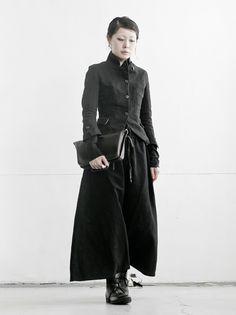 WOMEN DESIGNER :: A DICIANNOVEVENTITRE :: A DICIANNOVEVENTITRE ウィメンズ イージースカートパンツ 119/ BLACK