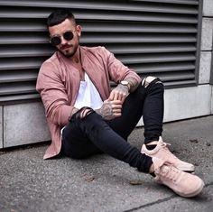 Rosa Pastel Moda Masculina 2018