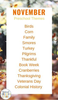 15 November Preschool Themes with Lesson Plans and Activities Preschool hands on activities to do this fall and winter Preschool activities for Thanksgiving Turkeys Thankful printables Cinnamon playdough Fall Themes Plus Thanksgiving Books for Preschool November Preschool Themes, Fall Preschool, Preschool Curriculum, Preschool Lessons, Preschool Learning, Preschool Activities, Thanksgiving Preschool, Preschool Monthly Themes, Homeschooling