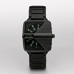 Fossil Black Spin Dial Watch