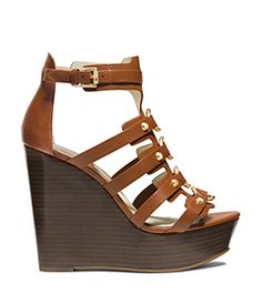 Nadine Leather Wedge by Michael Kors