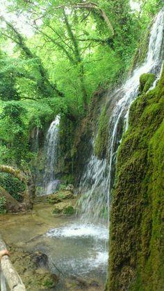 Greece - Kilkis: SKRA | @༺♥༻LadyLuxury༺♥༻ Enchanted River, Seasons In The Sun, Greek Flowers, Macedonia Greece, Places In Greece, Forest Mountain, Greek Isles, Tree Forest, Santorini Greece