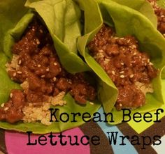 Korean Beef Lettuce Wraps. This is a quick and easy dinner. Not only is it easy but it's light and just the right amount of sweet and savory. As a healthier alternative I used leftover Quinoa that I had.