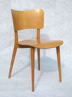 Max Bill; Beech 'Kreuzzargenstuhl' Chair for Horgen-Glarus, 1950s.