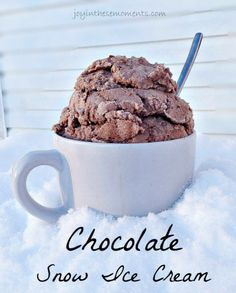 Chocolate snow ice cream recipe im hungry pinterest chocolate snow ice cream mix together 2 tbsp vanilla 5 tbsps unsweetened cocoa powder sweetened condensed milk and about 8 cups of snow ccuart Image collections