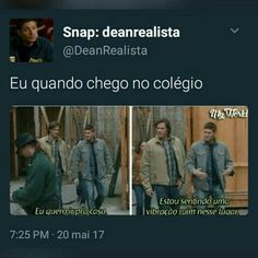 Read Para rir um pouco from the story ೃ✧Zuando As Creepys by Wolfisz (· Alface ¡! Spn Memes, Supernatural Memes, Funny Memes, Memes Status, Bobby Singer, I Don T Know, Series Movies, Wtf Funny, Superwholock