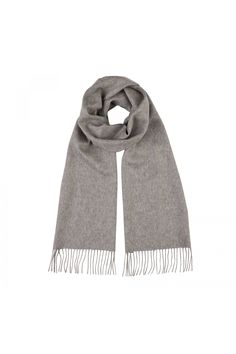 Cashmere Scarf In Light Grey - fine cashmere clothing, accessories and knitwear