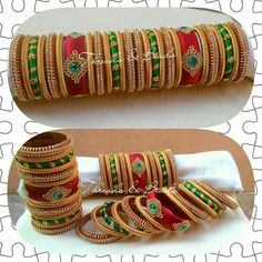 For reference Silk Thread Bangles Design, Silk Thread Necklace, Silk Bangles, Beaded Necklace Patterns, Thread Jewellery, Jewelry Patterns, Beaded Jewelry, Bridal Bangles, Merida