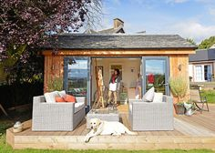 Eclectic Home Office by JML Garden Rooms