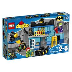 LEGO DUPLO DC Comics Super Heroes Batman Batcave Challenge 10842 Preschool PreKindergarten Large Building Block Toys for Toddlers
