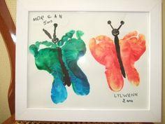 Idée cadeau pas cher pour une maman ou une grand mère: le papillon avec les pieds