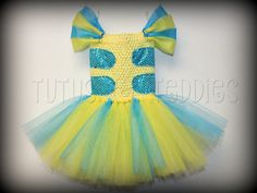 Hey, I found this really awesome Etsy listing at https://www.etsy.com/listing/484179605/flounder-inspired-tutu-dress-the-little