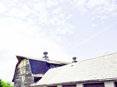 grey barn by Deana Clement Michie for Minted.