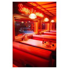 Pop's Diner is such a classic from Riverdale Red Aesthetic Grunge, Orange Aesthetic, Aesthetic Colors, Aesthetic Collage, Aesthetic Pictures, Aesthetic Dark, Aesthetic Gif, Aesthetic Clothes, Bedroom Wall Collage