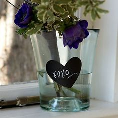 Heart Shaped Chalkboard Labels