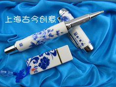 Special blue and white porcelain pen signature pen suit corporate business creative gift custom gift birthday gift to send him - Taobao