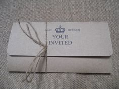Vintage telegram  Pocket fold invitations with invitation rsvp and information all personalised to you