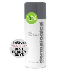 Dermalogica Daily Microfoliant awarded 'Best Facial Exfoliant' - InStyle Magazine Best Beauty Buys 2012.