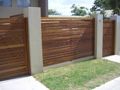 Hardwood Slatted Privacy Screens from Bransons Building Materials