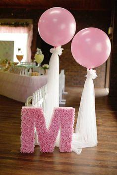 decoración con globos para baby shower1