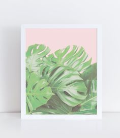 Monstera bush printable on a pastel pink background. It is a perfect gift for women and would look great in any home.  This product is a digital file you will not receive a physical copy and the frame is not included.  Use our promo code PROMO30 and save 30% when you buy 3 items or more. **FILES INCLUDED**  - 4x6 inches JPEG file, set up on a 8,5x11 inches document - 5x7 inches JPEG file, set up on a 8,5x11 inches document - 8x10 inches JPEG file, set up on a 8,5x11 inches document - 11x14…
