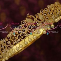 Stylish Peacock Design CZ Vaddanam Premium Jewellery