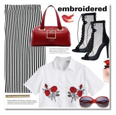"""""""Embroidered"""" by svijetlana ❤ liked on Polyvore featuring Dolce&Gabbana, H&M, embroidered and zaful"""